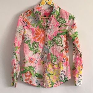 Lilly Pulitzer for Target Floral Shirt Size XS